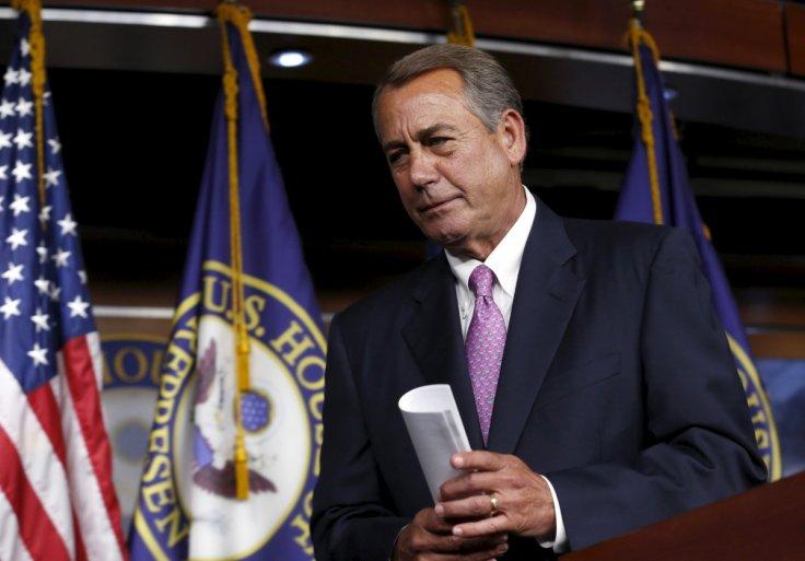 John Boehner resigns...